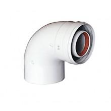 Коаксиальный DN 60/100 отвод 90 градусов Baxi (KHG71410141-)