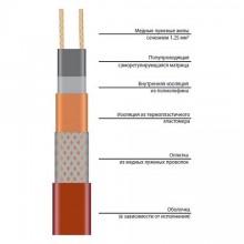 Саморегулирующийся нагревательный кабель ССТ 25НТР2-ВТ  обогрев кровли
