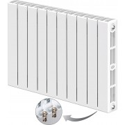Радиатор биметаллический Rifar SUPReMO Ventil 500 10 секций (нижнее правое подключение)