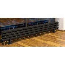Радиатор стальной Loten Grey ZN 1000 4 секции черный (нижнее подключение)