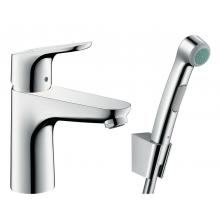 Смеситель для раковины с гигиеническим душем Hansgrohe Focus 31927000