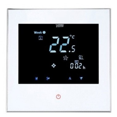 Комнатный термостат Techno с сенсорным управлением КТ-200 белый