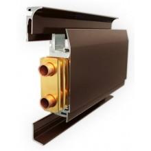 Теплый плинтус Mr.Tektum водяной, цвет коричневый RAL 8019 (в сборе 1 погонный метр)